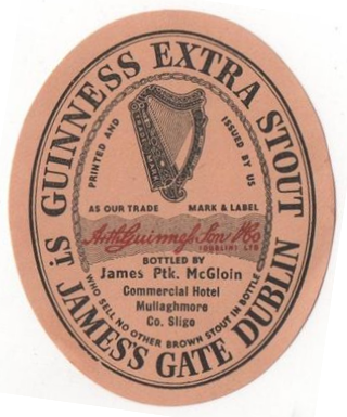 example of a guinness bottlers label